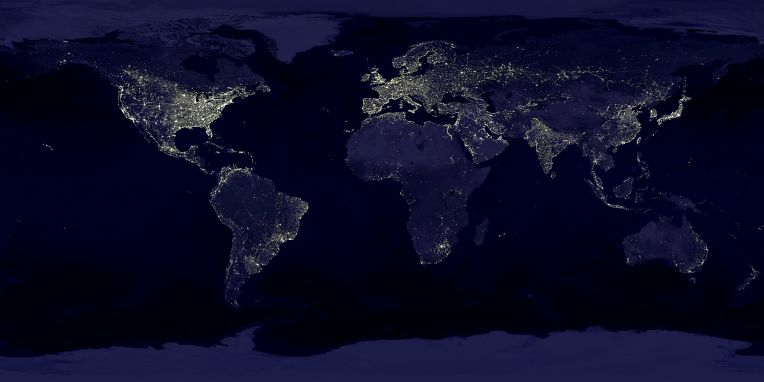 Earth night lights [photo credit: NASA]