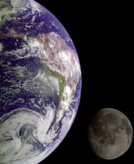 Earth & moon [photo credit: NASA]