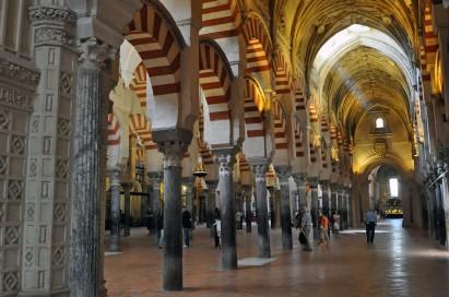 The mosque incorporates Roman pillars.