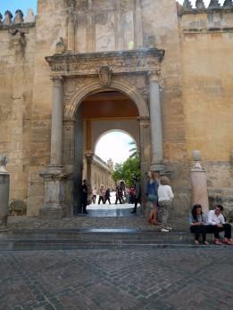 Entry to interior courtyard
