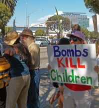 protest in Los Angeles, California