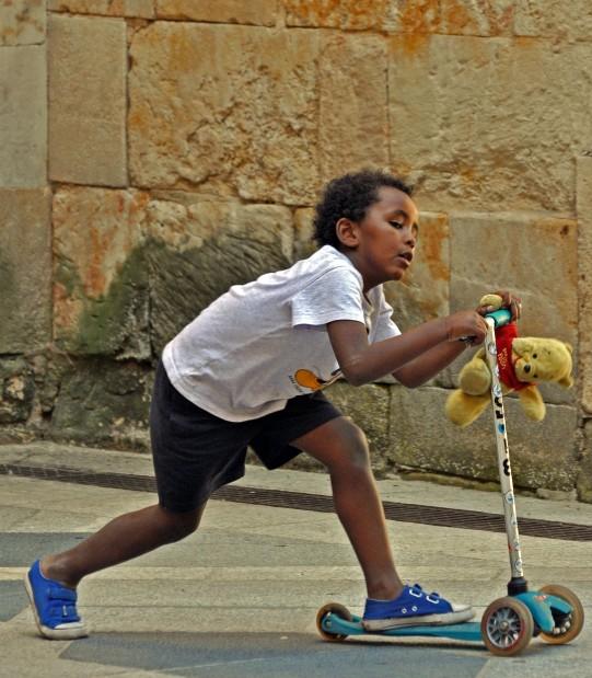 childhood in Salamanca, Spain