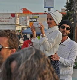 tourists at Venice Beach, California
