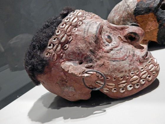 Papua New Guinea death portrait over deceased's skull