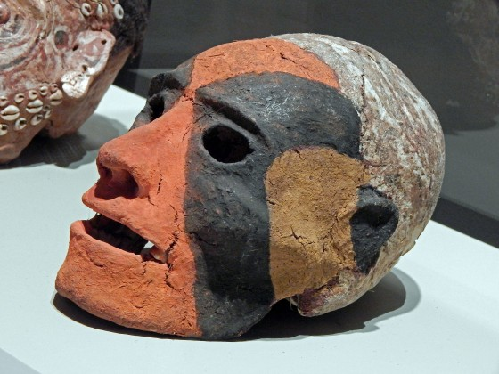 Vanuatu death portrait: skull removed after decomposition, then features are modelled with vegetable matter & sap